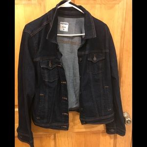 Women's old navy jean jacket. Dark denim